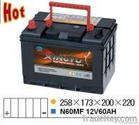 N60MF 12v 60ah automobile storage battery