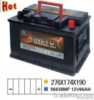 56638MF 12v 66ah  maintenance free starting battery for auto