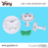Cake decoration butterfly plastic pastry plunger cutters