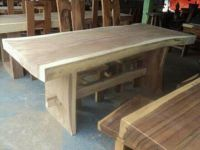Dining Room Table with natural Slab