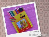 24pcs colour pencil set drawing pencil wood