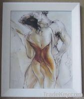 Handpainted Modern Oil Painting Dancing