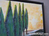 Handpainted Acrylic Painting Trees
