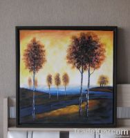 Handpainted Acrylic Painting Mountain road with tree
