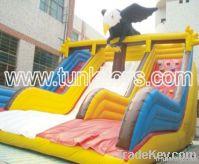inflatable slide bounce castle castle obstacle race track