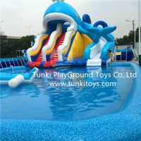 water park fantasy ocean park inflatable slide inflatable bouncy inflatable castle
