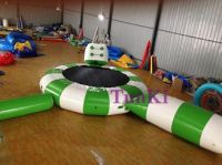 inflatable iceberg climbing blob slide water park