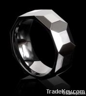 White ceramic ring jewelry Polished shiny