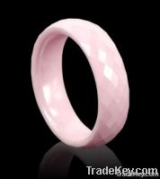 8mm Newest facted Pink Ceramic Ring