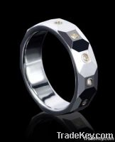 CZ tungsten wedding rings diamond