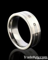 tungsten rings gold inlay