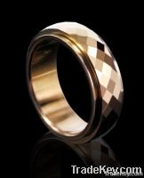 tungsten ring gold inlay