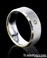 2013 mens tungsten ring gold inlay Factory Shenzhen tungsten ring gold