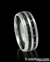 8mm white carbon fiber tungsten ring
