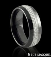 wholesales white carbon fiber women ceramic rings