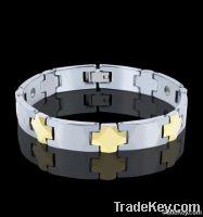 Gold Plated Tungsten Bracelets Men, Tungsten Bracelet with Germanium