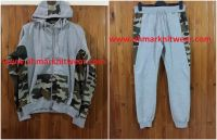 Men Camouflage Style Fleece Suit