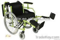 durable manual folding aluminium alloy frame wheelchair