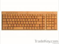 wireless bamboo keyboard  100% full wireless  keyboard , 2.4G