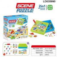 Cardboard scene puzzle
