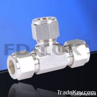 compression tube fitting, union tee