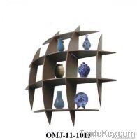 Contemporary Wooden Hidden Bracket Wall Shelf