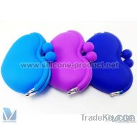SILICONE COIN PURSE AND