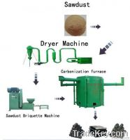 continuous charcoal making furnace
