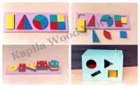 Wooden Geometric Shape Blocks