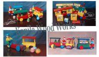 Wooden Train Building Blocks