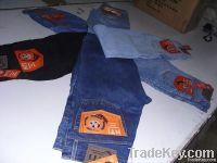 Mens basic 5 pocket denim refurbished jeans