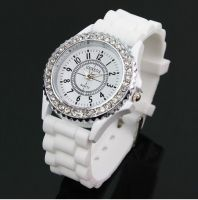 Popular ladies sweet silicone wrist quartz watch