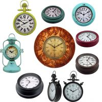 2014 New design American country style retro iron clock
