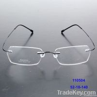 Many different lens shape rimless titanium glasses frames optical