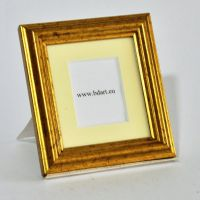 Wooden Photo Frame old gold 8,5x7,5cm