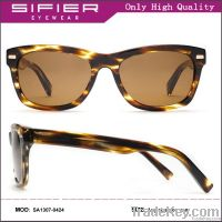 Flat top unisex acetate sunglasses