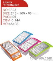 Plastic household vegetable grater with container