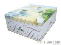 metal tin cake boxes