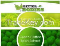 30 Green coffee bean extract & 30 green tea cleanse diet slimming fat burn pills