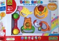 plastic toys, baby rattles