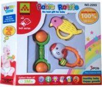 plastic toys, baby rattles
