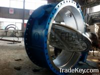 Large Diameter Double Flanged Butterfly Valve