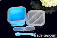 collapsible silicone food container