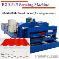 New type 828 glazed tile roll forming machine