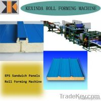 EPS Color Steel Sandwich Panels Roll Forming Machine sandwich panel ma
