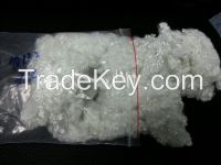 0 .9 / 32 - Siliconised - Recycled Polyester Staple Fiber Polyester Black 3D / 64 MM White SDOB 6D and 15 D