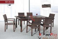 TF-9111 outdoor wicker rattan bistro set/ leisure patio tea coffee tab