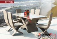 TF-9112 outdoor wicker rattan bistro set/ leisure patio tea coffee tab