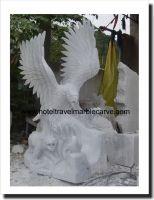 Marble Eagle art sculpture carving # NDVN 301 Garden Statue