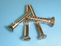 Silicon Bronze Slotted Flat Head Wood Screws